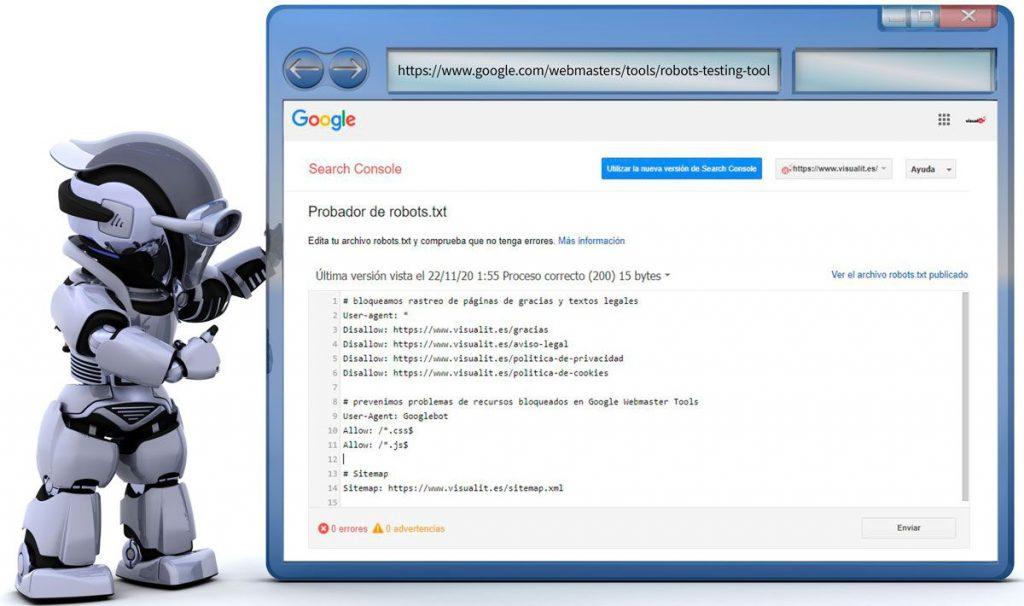 Probador robots.txt Google Search Console